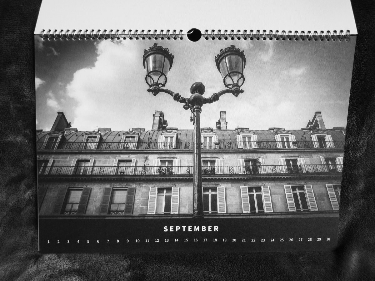 Paris Eternal - Black & White Calendar 2020