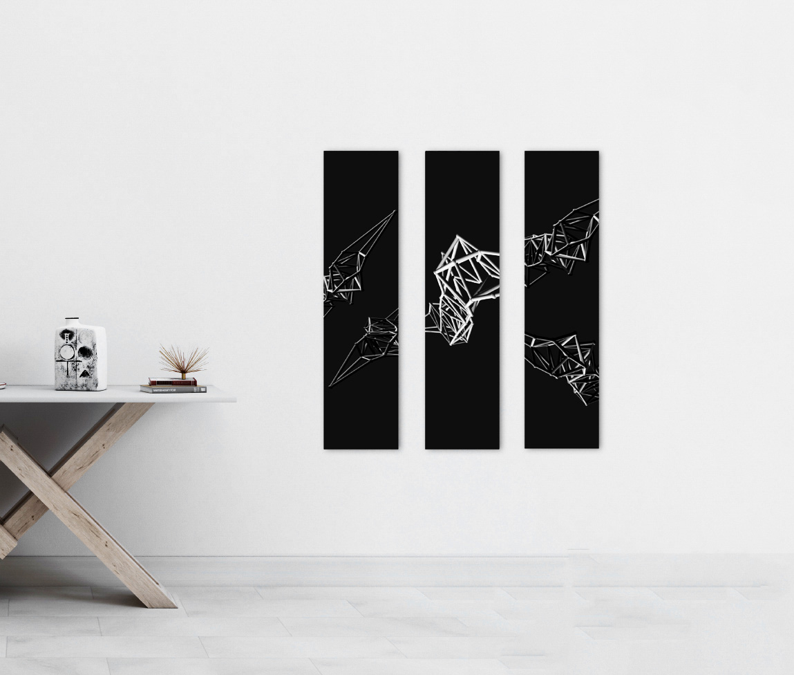 Triptych - Abstract